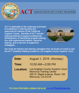 ACT Meeting Flyer for 08/01/2016