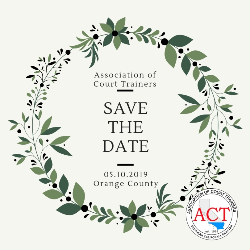 Save the Date:  May 10, 2019